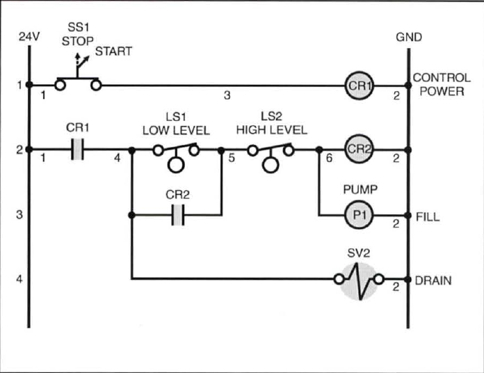 Wiring Diagram Level Switch : Relay based on off controller level control